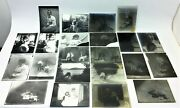 Lot Of Antique Old Family Portraits Glass Negatives With Photographs Photos Art