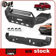Front Rear Bumper Guard For 2016-2019 Toyota Tacoma W Led Lights D-rings Black