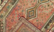 4and0398x 7and0393 Hand-knotted Antique C.1920 Caucasian Kazak Wool Muted Vg-dy Rug