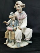 Lladro Spain Nao Zaphir Lesson Of Music 701 Clown Boy Accordion Great Condition