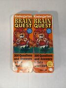 Brain Quest Kindergarten Card Deck 1 And 2 300 Questions And Answers Ages 5-6