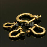 Solid Brass D Bow Shackle Screw Pin Joint Connect Key Chain Hook Leather Craft