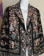 Vintage 1920s 30s Completely Embroidered Art-to-wear Asian Chinese Jacket S M