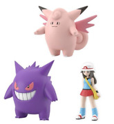 Pokemon Scale World Kanto Leaf And Clefable And Gengar New 1/20 Scale Pocket Monster