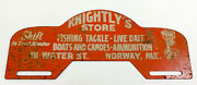 Knightly's Store Norway Maine License Plate Tag Topper Fishing Outboard Motor
