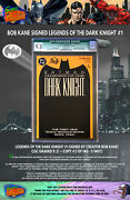 Bob Kane Signed Legends Of The Dark Knight 1 - Cgc 9.2 - Dynamic Forces Cert