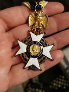 Sons Of The American Revolution Medal Badge 14k Gold With Eagle 21575