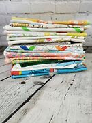 Large Lot Of 20 Vintage Pillowcases - Some Pairs Handmade Character Floral