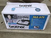 Brother Fax-575 Personal Plain Paper Fax Phone And Copier Factory Sealed Open Box