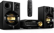 Fx10 Bluetooth Stereo System For Home W/ Cd Player Mp3 Usb Fm Bass Reflex