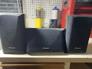 Pioneer S-cr205 Surround Sound Center Speaker And Two Rear Speakers