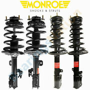 Monroe Front Rear Quick Struts And Coil Spring For Toyota Camry Se 3.5l 2007-2011