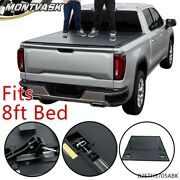 Hard Tri-fold Tonneau Cover Fit For 02-21 Dodge Ram 1500/2500/3500 8ft Long Bed