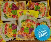 Lot Of 30 Frootsyandrsquos Snacks Bags Jelly Fruit Tik Tok 🍇🍎🍋🍓🍒🍍 Free Shipping