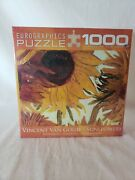 New And Sealed Eurographics Vincent Van Gogh Sunflowers 1000 Piece Puzzle 19x26