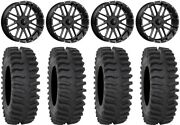 Msa Milled Bandit 20 Wheels 33 Xt400 Tires Polaris Ranger Xp 9/1k