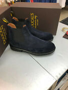 Shoe Ankle Boot Beatles Doucal's 1249 Suede Blue Rubber Sole