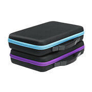 Grids Carrying Case Hard Shell Storage Box Essential Oil Holder Mesh Pocket