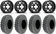 Kmc Mesa Lite 15 Wheels Black 35 X-rox Dd Soft Tires Can-am Commander Maverick
