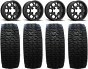 Kmc Mesa Lite 15 Wheels Black 35 Desert Race Tires Sportsman Rzr Ranger