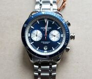 Jack Mason Watch With 44mm Navyblue Chronograph Face And Silver Breclet