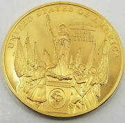 10 24k Gold Plated Proof Coins Of The Bill Of Rights, First Ten Amendments