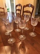 """Wedgwood Crystal Majesty 8 7/8"""" Signed Water Goblets/glasses – Set Of 6 New"""