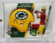 2005 Sweet Spot Football Aaron Rodgers Rookie Signature Auto 194/199 Packers Rc