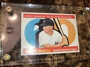 1960 Topps 563 Mickey Mantle All Star Mint