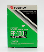 [new] Fujifilm Fp-100b Instant Black And White Film Expired 03/2002 From Japan