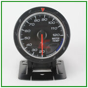 2.5 60mm Black Face Auto Advanced Water Temp Gauge Amber Red/ White Lights