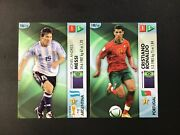 Lionel Messi - Cristiano Ronaldo 2006 Panini Germany World Cup Two Cards Lot Vgc