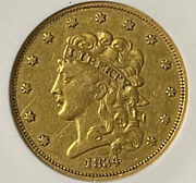 Gold Coins Us 1834 5 Gold Coin Certified Anacs Ef Details Net Vf 30 - Rare
