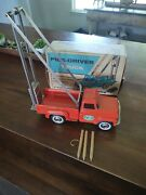 Hubley 1928 Pile Driver Truck With Box Nice