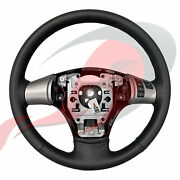 2005-2013 C6 Corvette Gm Manual Leather Steering Wheel Blue Stitching And No Bt