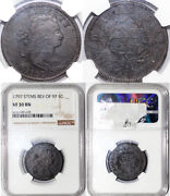 1797 1c With Stems Reverse Of 97 Draped Bust Large Cent Ngc Vf 30