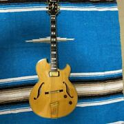 ibanez Pm-100 Pat Metheny Semi Hollow Natural Electric Guitar With Hard Case