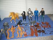 Vintage Lot Of Marx Johnny West Dolls Horses And Accessories