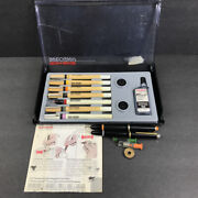 Vintage 2 Koh-i-noor Rapidograph Technical Pen Set + Loose 4 And 3060 Germany