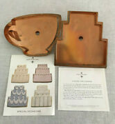 Martha By Mail Tea Cup Special Occasion Cake Copper Cookie Cutter Set Large 1990