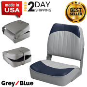 Navy Gray High Back Boat Seats Folding Seat For Fishing Pontoon And Bass Boats New