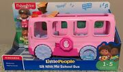 Bnib Fisher Price Little People Pink Sit With Me School Bus W/figures