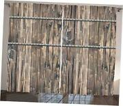 Rustic Curtains Image Of Wooden Planks With Screws And Nails 108 X 108