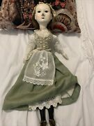 Queen Anne Wooden Reproduction Doll Approx 19andrdquo Tall