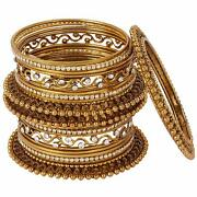 Shining Diva Fashion Latest Antique Design Gold Silver Traditional Bangles For