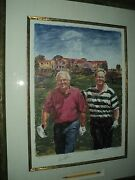 Legends Of Golf Lithograph Signed Medlock, Palmer And Nicklaus Coa Included