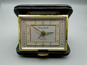 Rensie Tommy Traveler 7 Jewels Travel Alarm Clock Black Clam Shell Case Germany