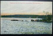 Postcard Manchester Nh - Massabesic Lake From Rocky Point Showing Battery Point