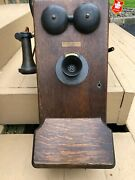 Antique Wall Phone Western Electric Wood Hand Crank - No Insides