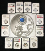 Birthstone Crystals In Silver Proof Coins 2016 Jan-dec All 12 Months
